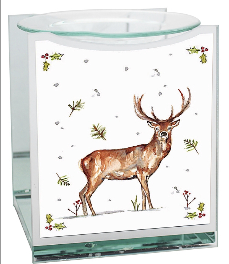 Winter Stag Glass Warmer 1