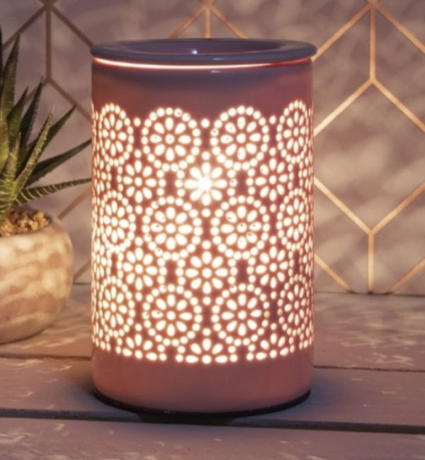 Blush Pink Circles Electric Warmer 1