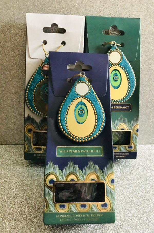 Peacock Range Incense Cones + Holder 1