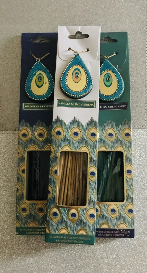 Peacock Range Incense Sticks + Holder 1