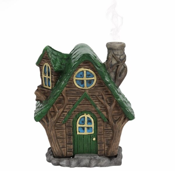 The 'Woody' Lodge Fairy House + Incense Cones 1
