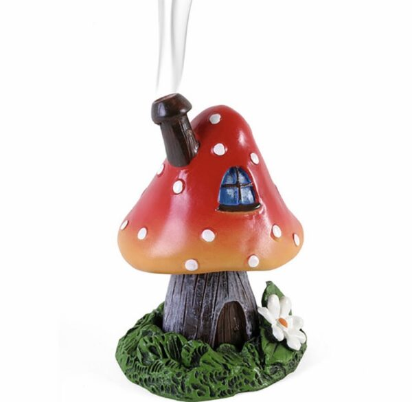 Red Smoking Toadstool + Incense Cone 1