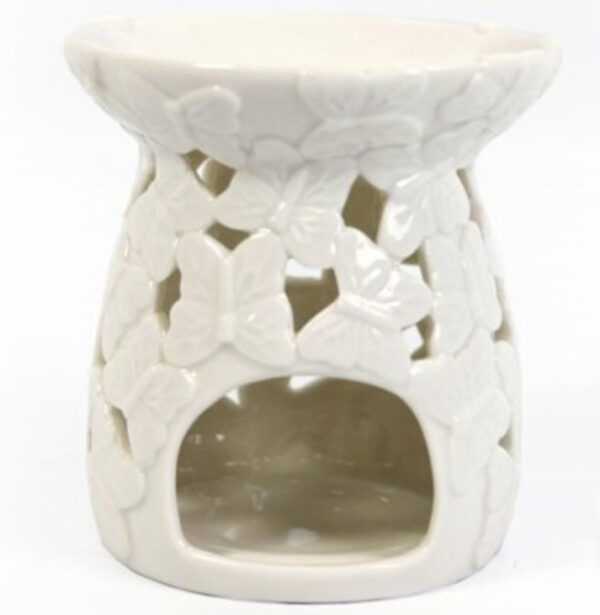 White Classic Butterfly T-Light Warmer 1