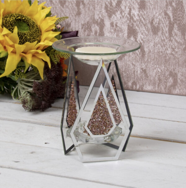 Red Crystal Mirror Glass T.Light Warmer 1