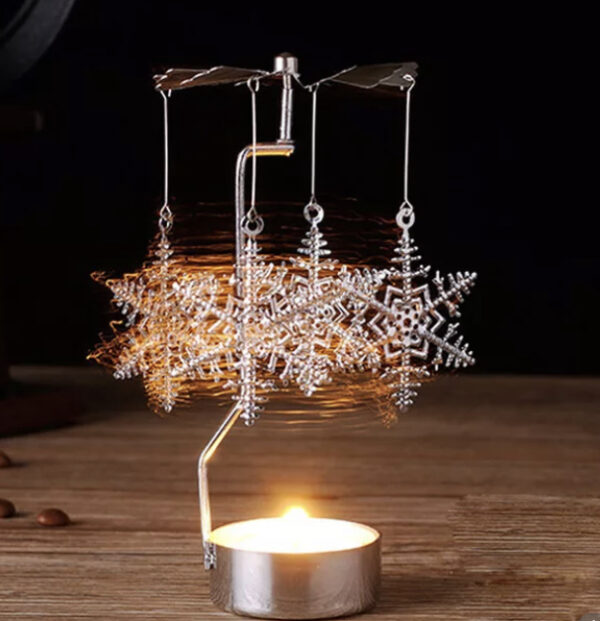Snowflake Spinning T-Light Holder 1