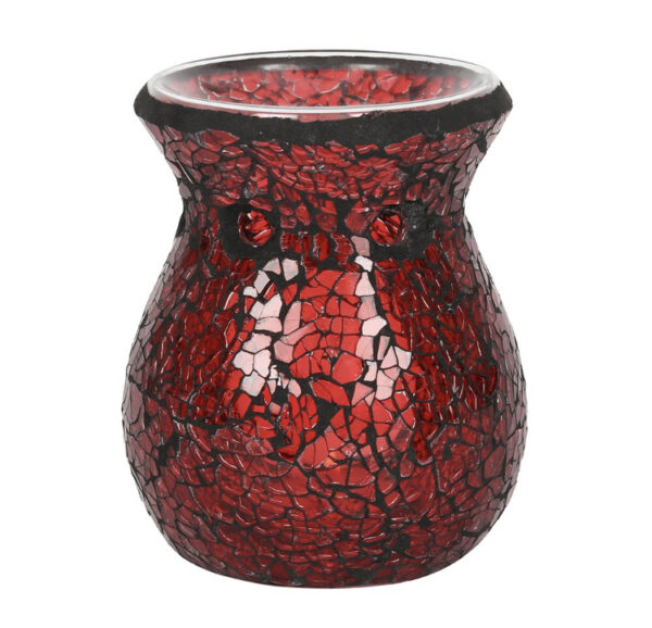 Red Crackle Mosaic Warmer 1