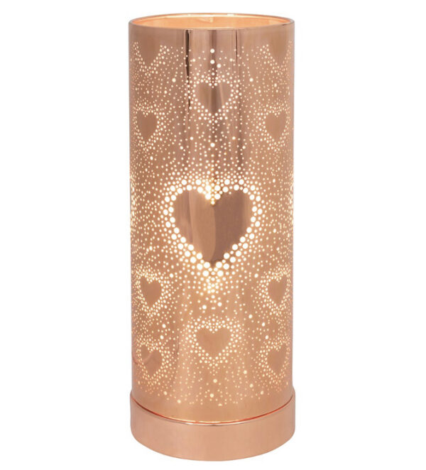 Stunning Rose Gold Heart Electric Warmer 1
