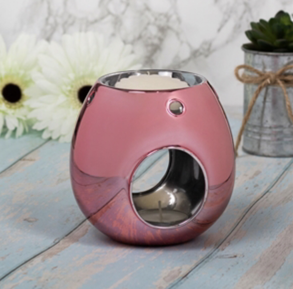 Pink Glass T-Light Warmer 1
