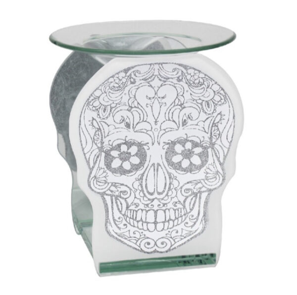 Skull Glass T.Light Warmer 1