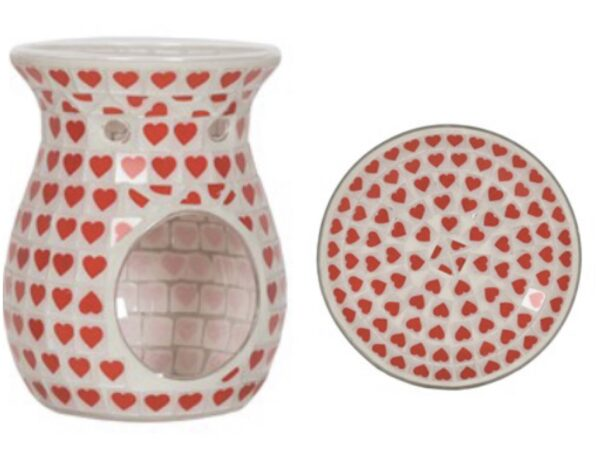Heart T-Light Warmer & Plate Set 1