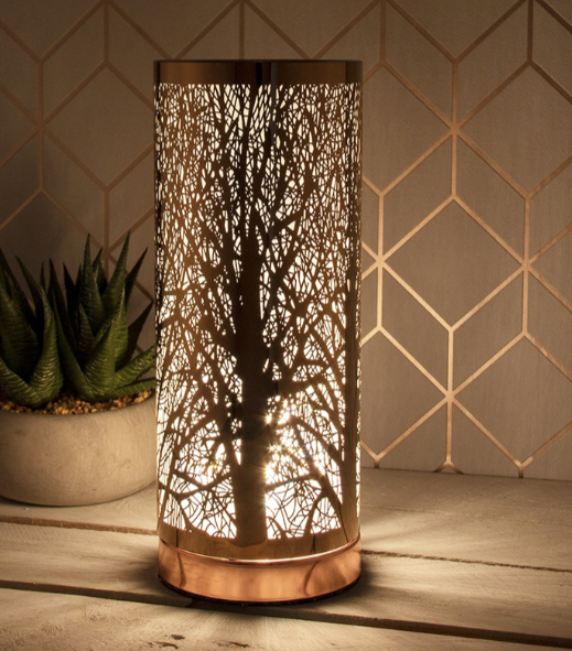 White & Rose Gold Electric Warmer 1