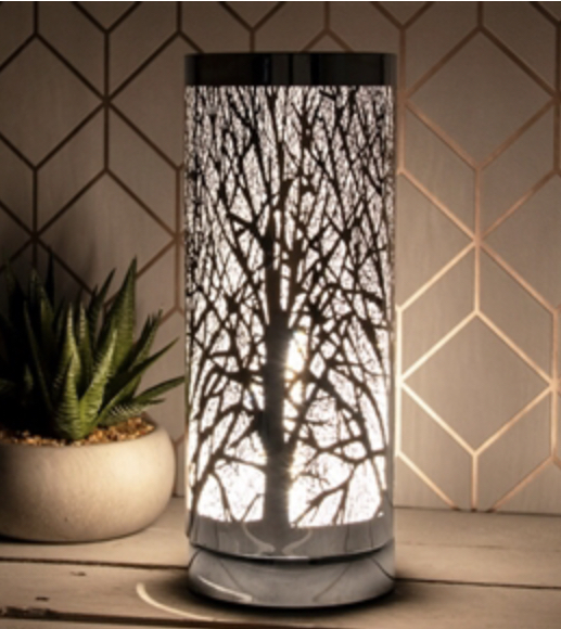 White & Silver Tree Electric Warmer 1