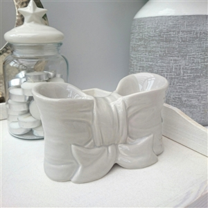 Elegance Bow Duo T-Light Warmer 1