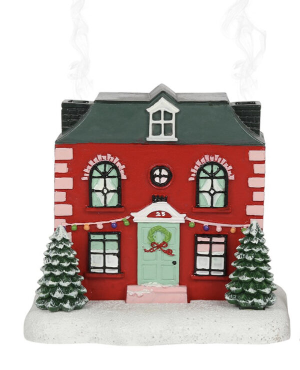 Christmas House Incense Cone Burner 1