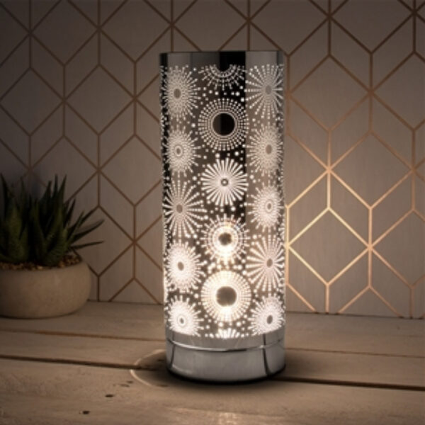 Silver Sparkle Electric Touch Warmer 1